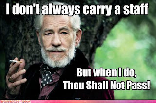 i dont always carry a staff