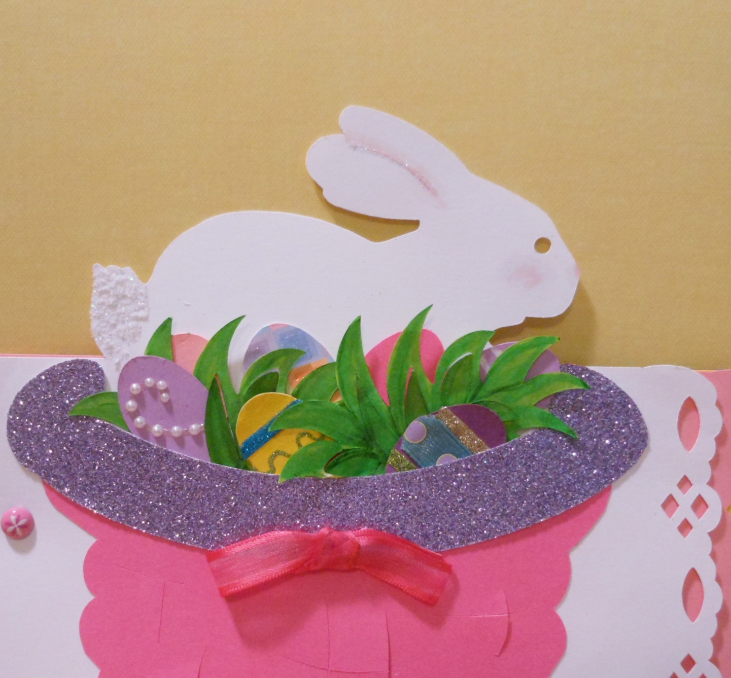 I Used The Basket From The Bosskut File: Easter Basket, Bunny And Eggs I  Cut The Eggs And Decorated And Hide Them In The Popkut Grass To Make The  Front