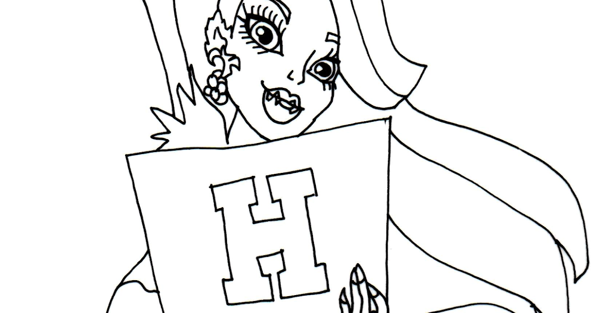monster high coloring sheets free for kids. coloriage venus ...