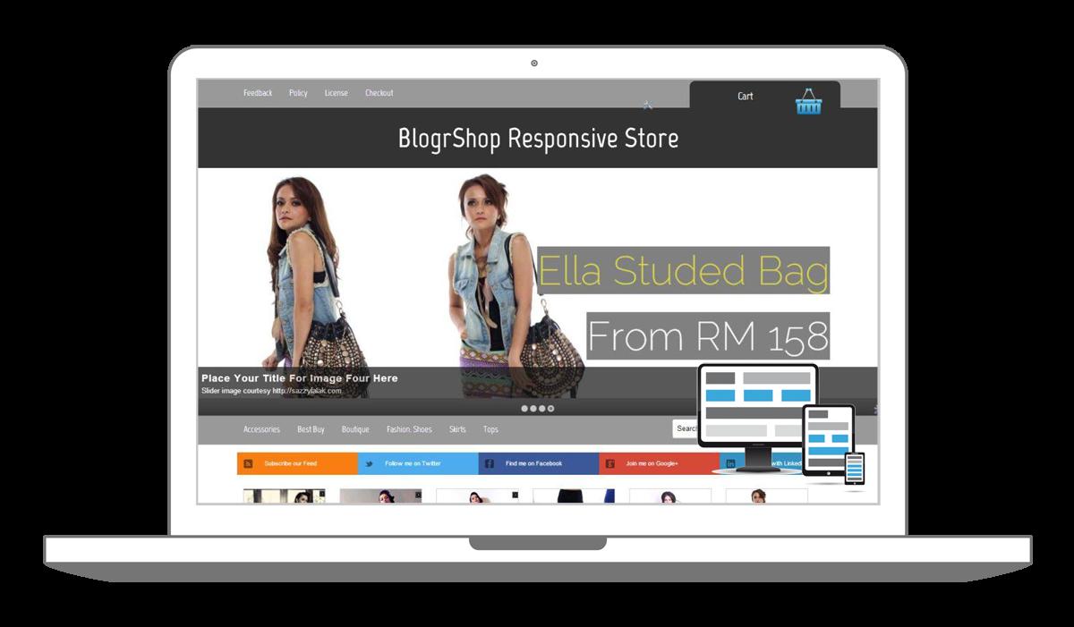 blogger themes blogspot responsive e commerce shopping cart ready templates irsah indesigns blog. Black Bedroom Furniture Sets. Home Design Ideas