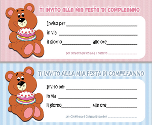 birthday invitations bear  free printable