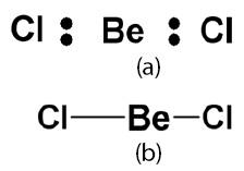 Struktur Lewis BeCl2 Bentuk molekul BeCl2 (linear)