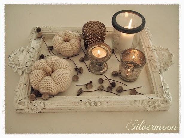 silvermoon herbstdeko mit shabby eicheln. Black Bedroom Furniture Sets. Home Design Ideas