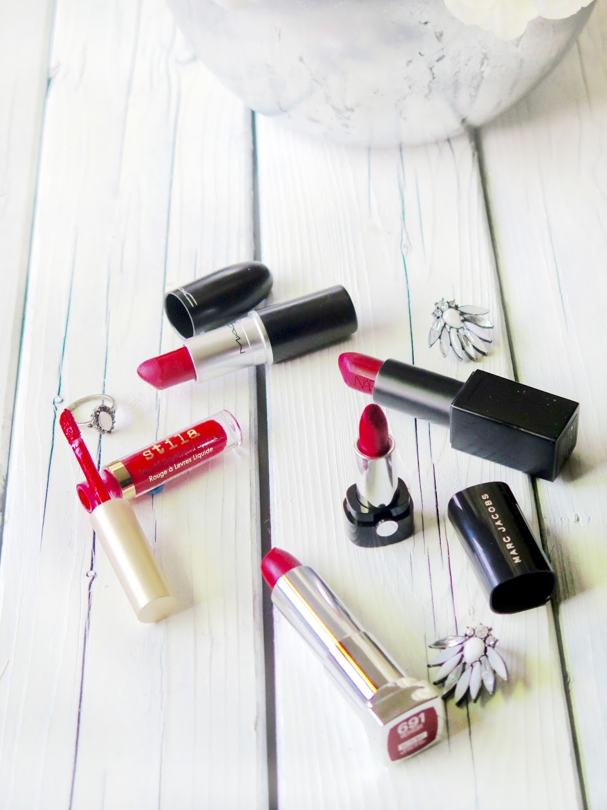 The Best Red Lipsticks For The Holiday Season - Bold Red Lips from Stila, NARS, MAC, Marc Jacobs and Maybelline
