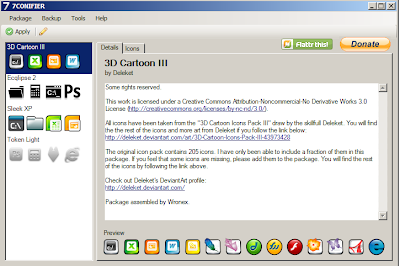 Ganti icon di windows 7