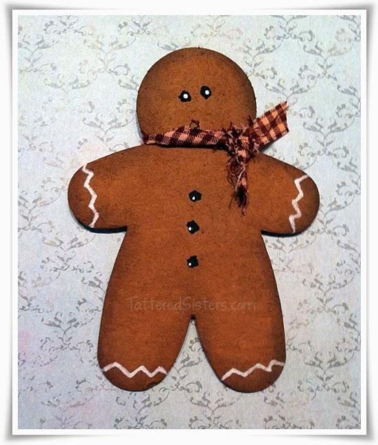 Primitive Gingerbread Ornie