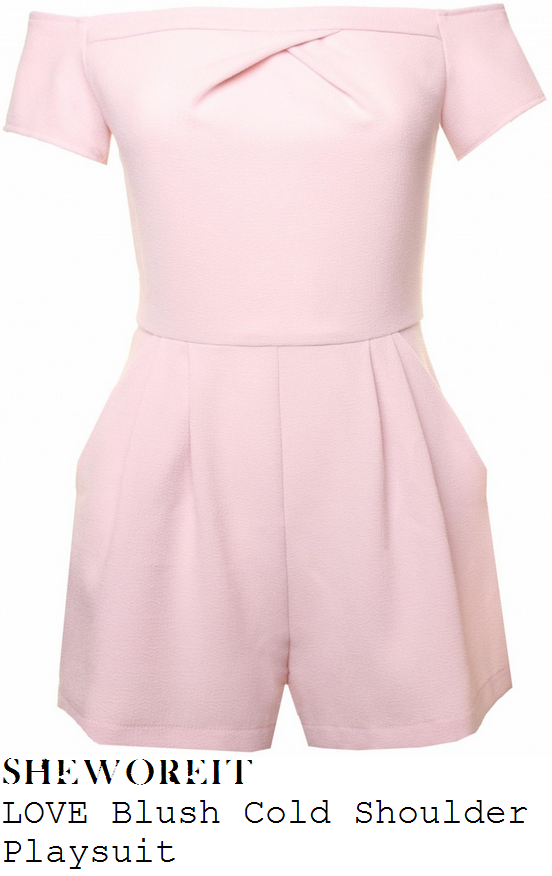 marnie-simpson-baby-pink-off-shoulder-short-sleeve-playsuit