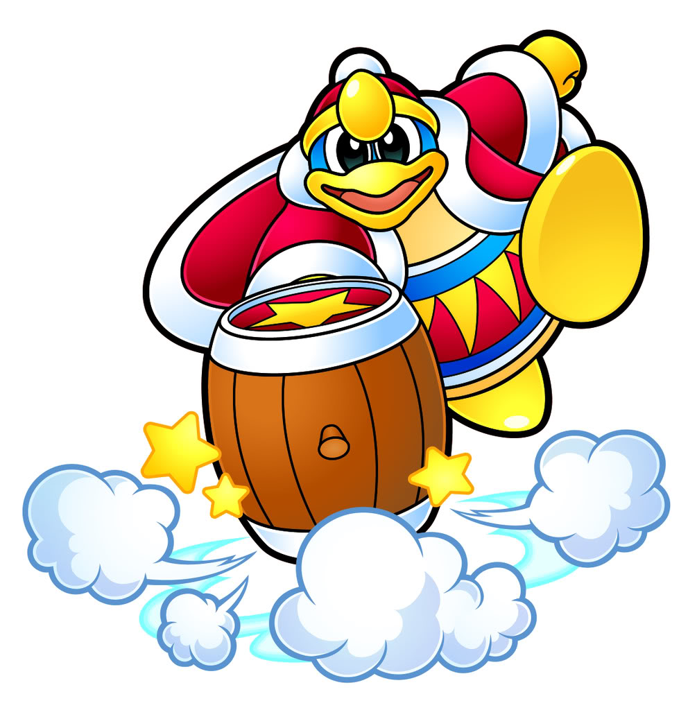 Kirby Hammer Coloring Page