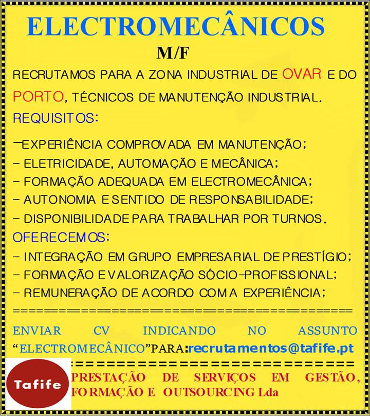 empregos para electromecanicos
