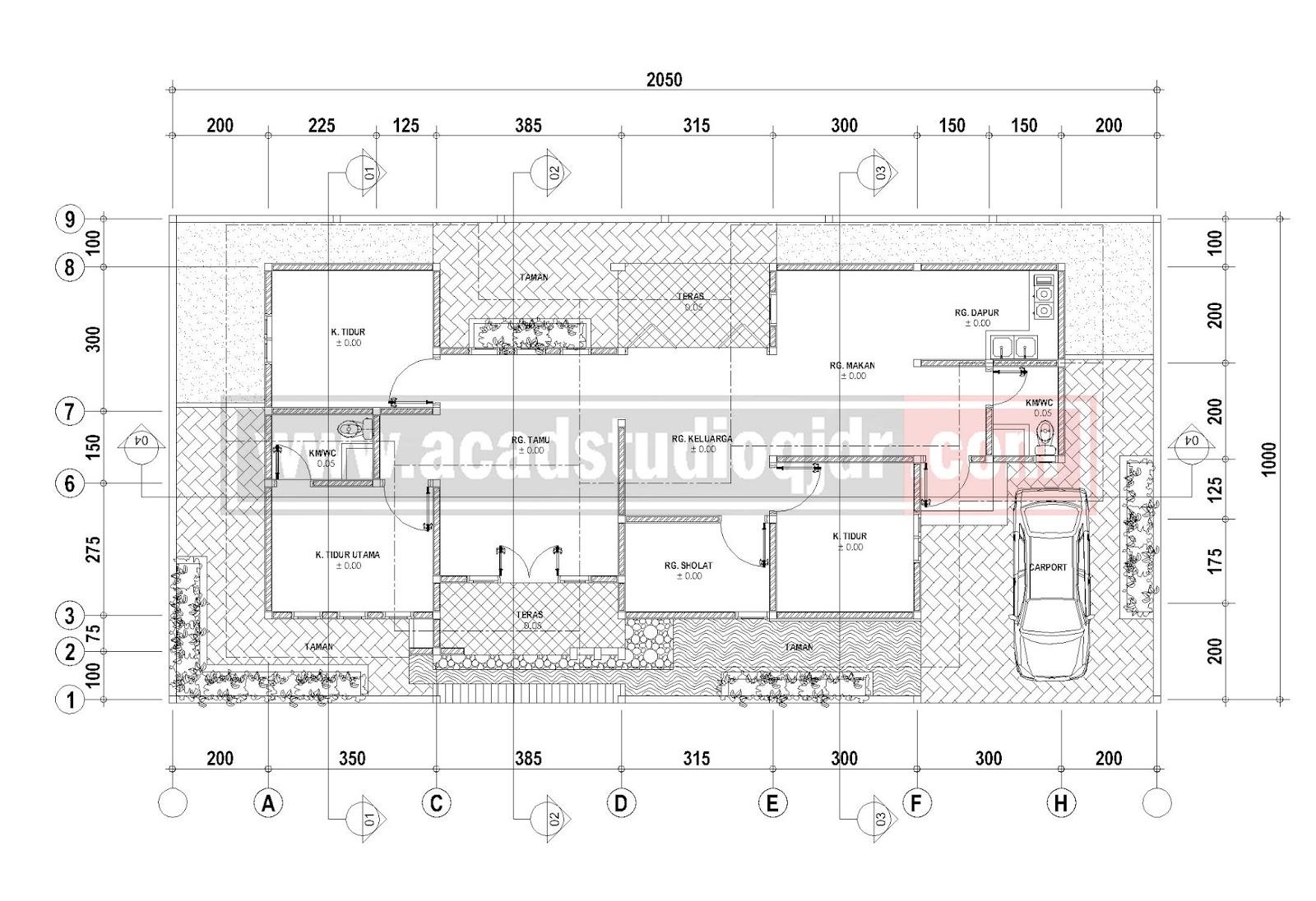 Desain Rumah Memanjang Milik Bpk Andik Iswahyudi Jasa Desain Rumah