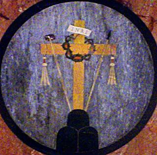 Emblema en los altares de la Iglesia de la Santa Cruz de Jerusalén. Roma. Foto G. Márquez