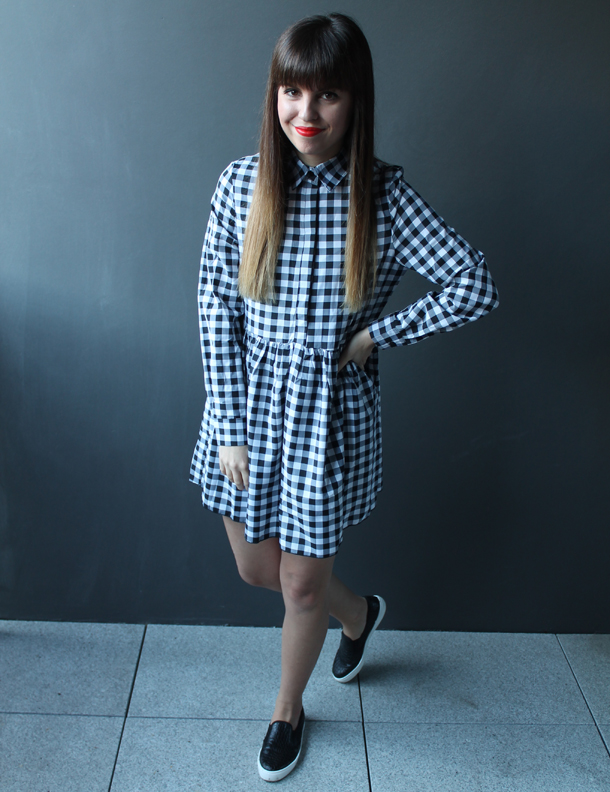 Missguided tartan smock dress