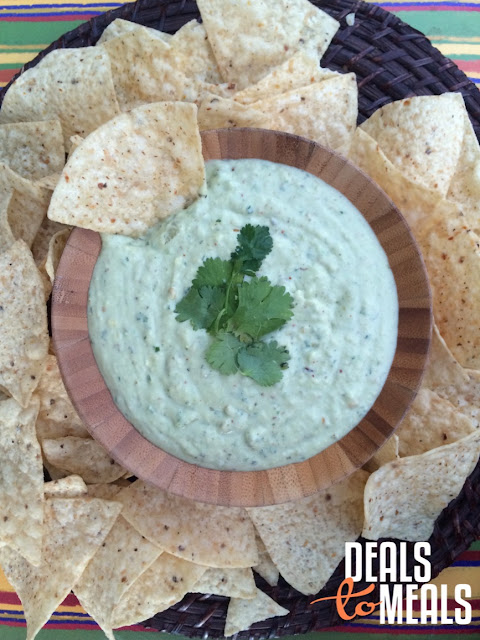appetizers, Recipe: Appetizers, side dish, Deals to Meals, super bowl food,  Los Cucos Avocado Creamy Dip