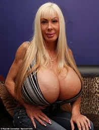 Elizabeth Starr's gigantic breasts