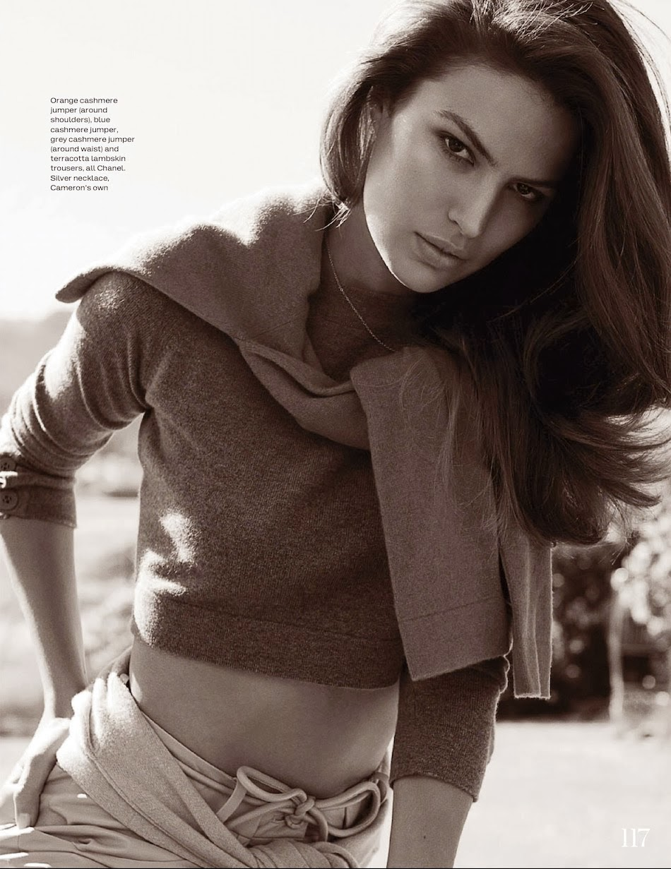 Magazine Photoshoot : Cameron Russell Photoshot by Benny Horne for Vogue Magazine Australia February 2013 Issue