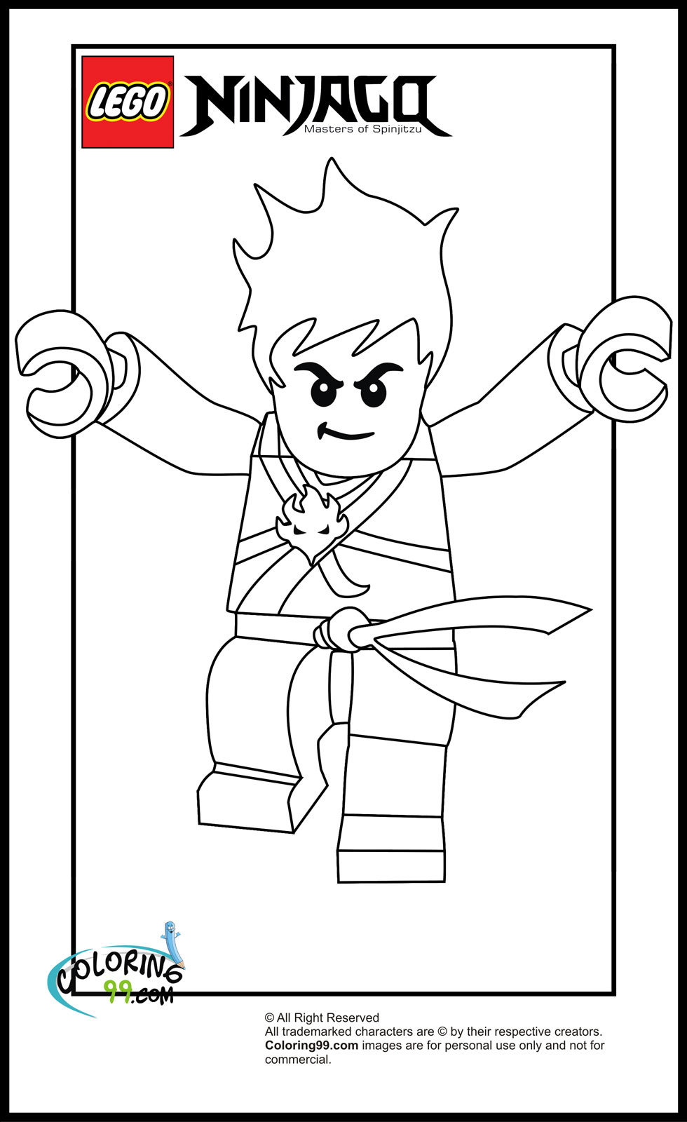 LEGO Ninjago Kai Coloring Pages | Team colors