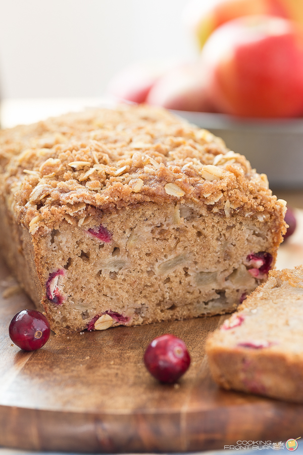 Cranberry, Orange & Walnut Streusel Bread Recipe — Dishmaps