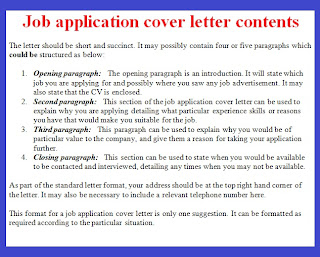 Application letter format and example