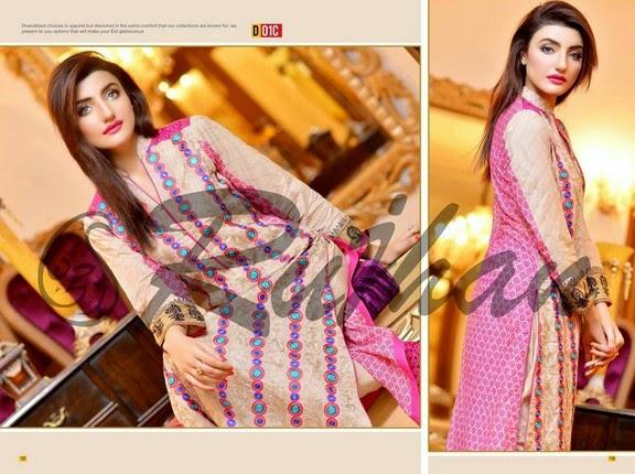 FestivanaEidCollectionByRujhanFabrics wwwfashionhuntworldblogspot 5  - Festivana Eid Collection 2014-2015 By Rujhan Fabrics