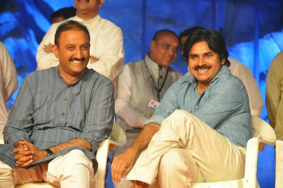 Pawan kalyan Latest Stills at NTR Stadium Bhakthi TV Koti Deepothsavam