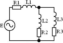 Схема для расчёта методом уравнений Кирхгофа