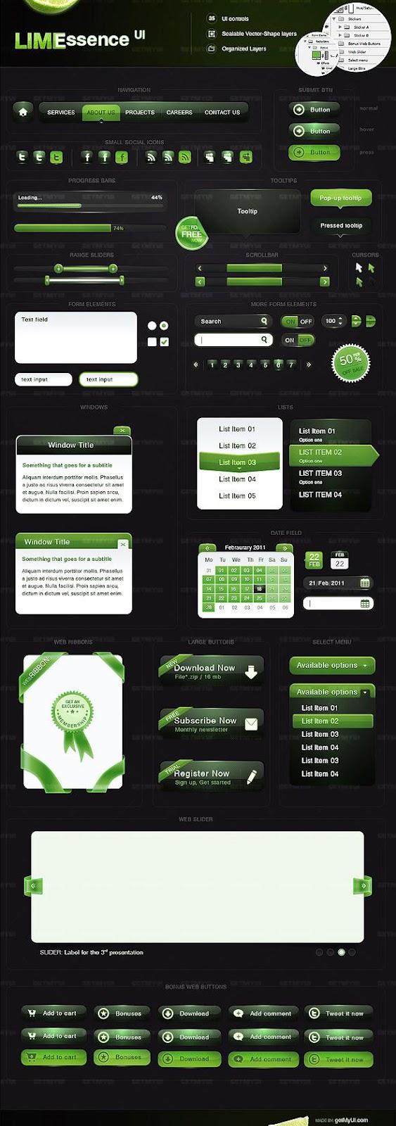 Lime Essence UI Element