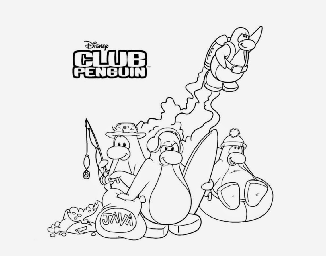 Club Penguin Coloring Drawing Free wallpaper
