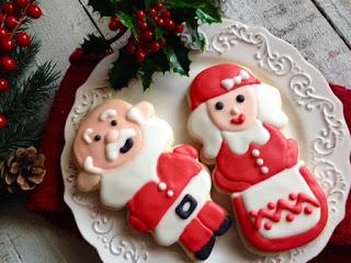 Sweet Santa Cookies