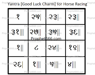 Indian Occult Voodoo Charm to win at Horse Racing