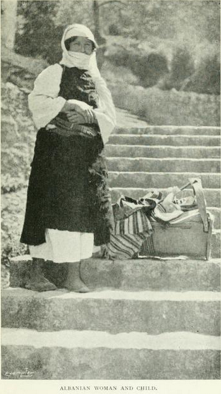Albanian women and child