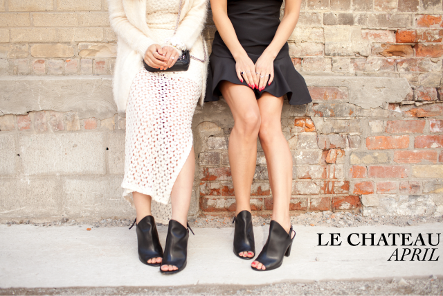 Black peep-toe, Finders Keepers Dress, Le Chateau shoe ambassadors