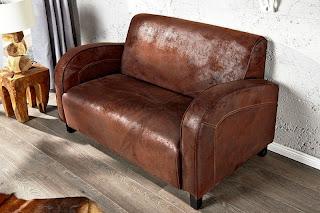 luxusna dvoj sedacka Havanna, dizajnova sedacia zostava v hnedej farbe, luxusne sedacky v kozi