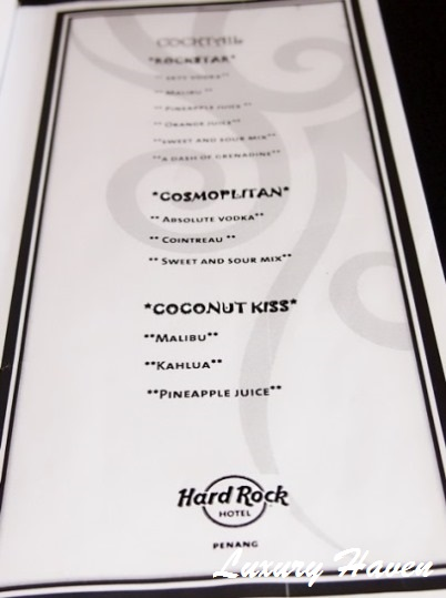 hard rock penang kings club cocktail menu