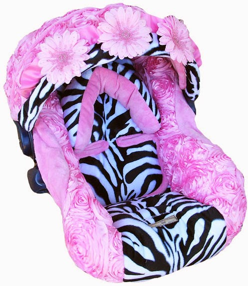 baby car seat covers Zebra Rose