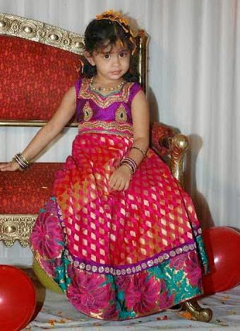 Baby in Ravishing Benaras Skirt