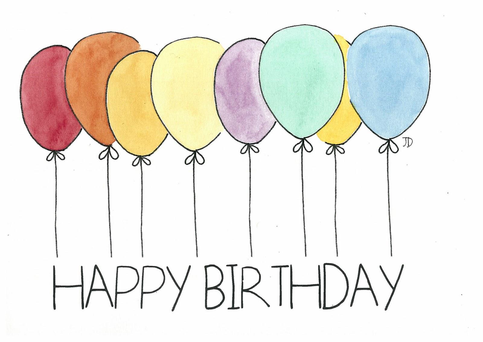 BLACK RHINO studio: Balloon Birthday Cards