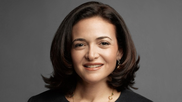 A headshot of Facebook COO Sheryl Sandberg.