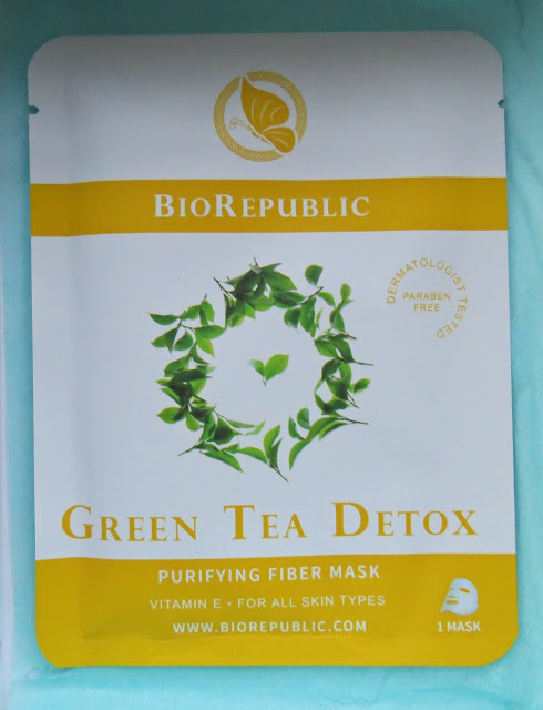 BioRepublic Skincare Green Tea Detox Purifying Fiber Sheet Mask