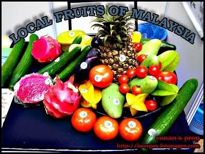 pilih la buah buahan tempatan di malaysian ini..buah buahan yang segar dan menyedap kan..