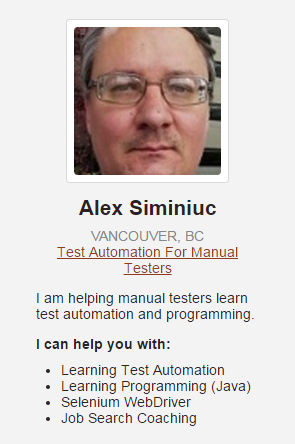 Free Skype consultations on test automation