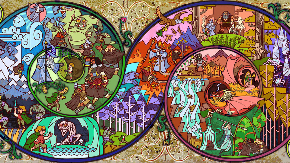 Lord of the Rings Stained Glass Art