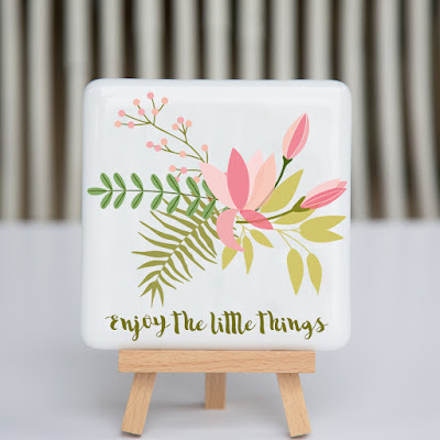 enjoy the little things, fused glass, fusography, wildflowers, motivational quote, creative entrepreneur, office art