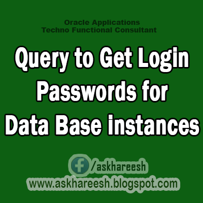 Get Login Passwords for Data Base instances, AskHareesh.blogspot.com