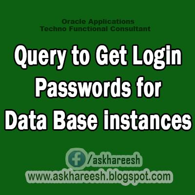 Get Login Passwords for Data Base instances, AskHareesh.blogspot.com