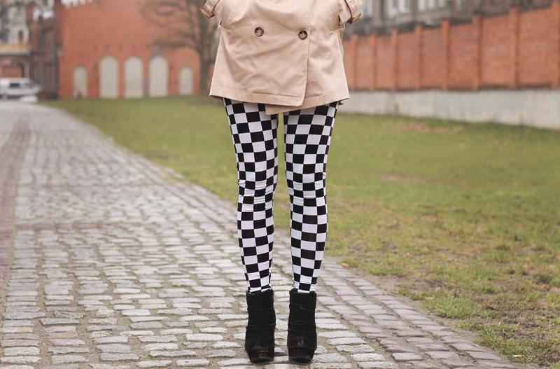 legginsy szachownica