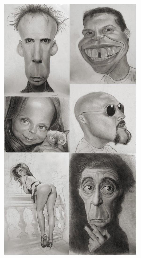 illustration de Tiago Hoisel représentant 6 crayonnés de personnages