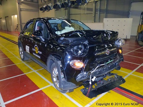 Fiat 500X Euro NCAP Crash Test Car