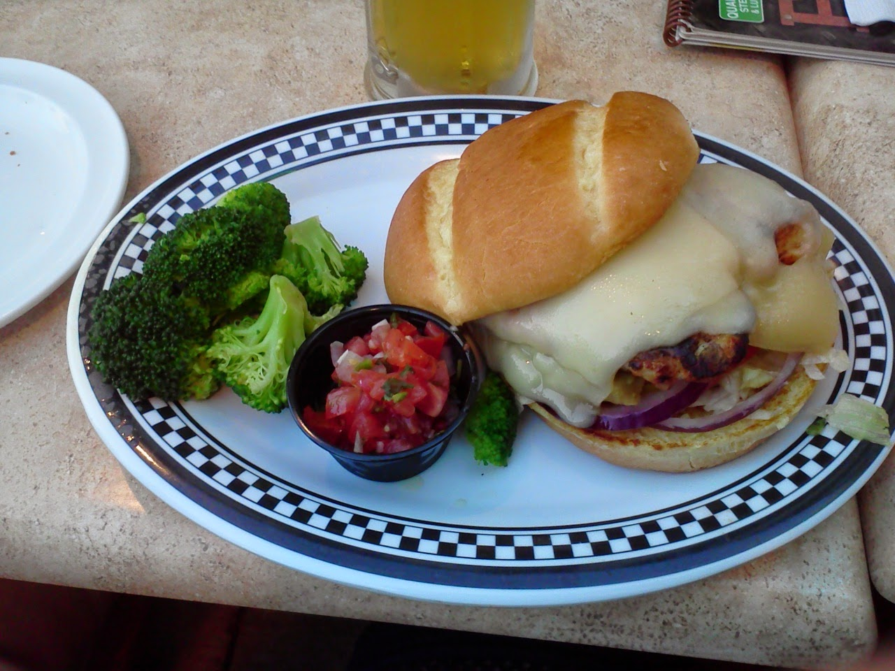 California chicken sandwich at Quaker Steak and Lube
