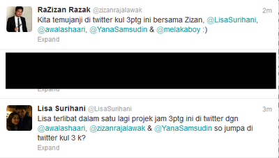 Zizan Raja lawak, Lisa surihani, Twitter, Yana samsudin, Awal ashaari,