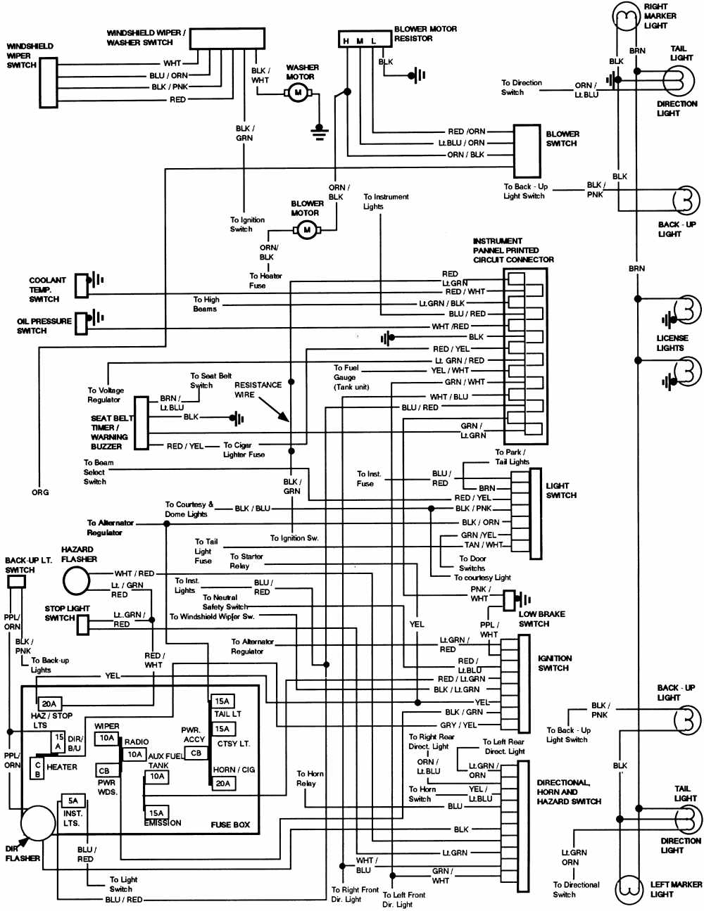 Ford    Bronco 1984 Instrument Panel Wiring    Diagram      All